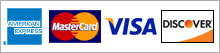 American Express, MasterCard, Visa & Discover